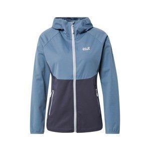 JACK WOLFSKIN Outdoorová bunda 'Go Hike'  tmavě šedá / kouřově modrá / bílá