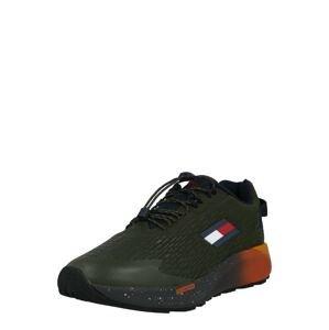 Tommy Sport Sportovní boty  tmavě zelená / bílá / červená / námořnická modř