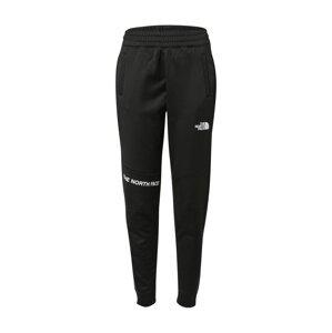 THE NORTH FACE Sportovní kalhoty  černá / bílá