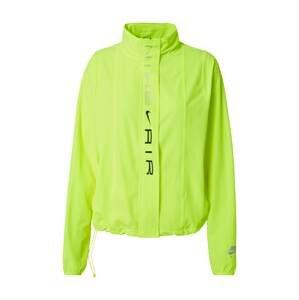 NIKE Sportovní bunda  svítivě zelená / černá