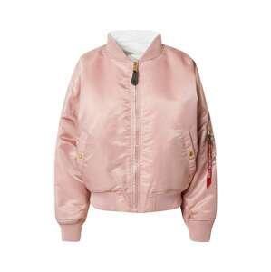 ALPHA INDUSTRIES Přechodná bunda  růžová / bílá
