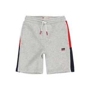 LEVI'S Kalhoty  šedá / červená / tmavě modrá