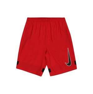NIKE Sportovní kalhoty 'Academy'  červená / černá / bílá