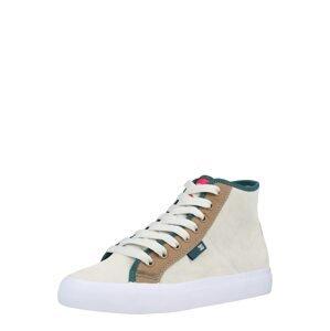 DC Shoes Kotníkové tenisky 'MANUAL'  bílá / karamelová / grenadina / trávově zelená