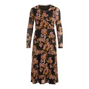 VILA Šaty 'Gorgeous'  černá / oranžová / růžová