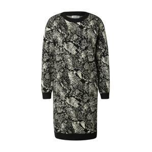 LIU JO JEANS Úpletové šaty  černá / bílá