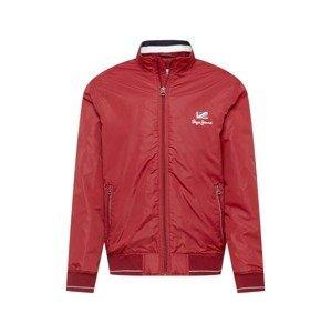 Pepe Jeans Přechodná bunda 'THE ODORE'  červená / bílá / námořnická modř