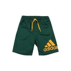 ADIDAS PERFORMANCE Sportovní kalhoty  zelená / zlatě žlutá