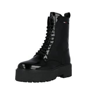 Tommy Jeans Šněrovací boty  černá / bílá / námořnická modř / ohnivá červená