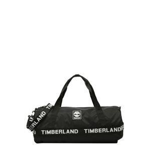 TIMBERLAND Cestovní taška  černá / bílá