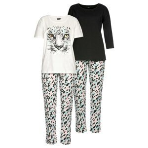 BUFFALO Pyžamo  bílá / černá / pink / modrá