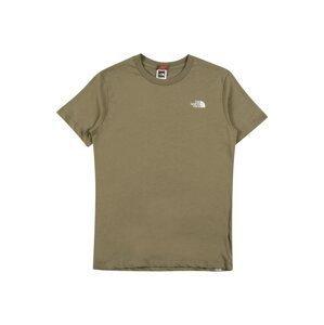 THE NORTH FACE Funkční tričko  tmavě zelená / bílá