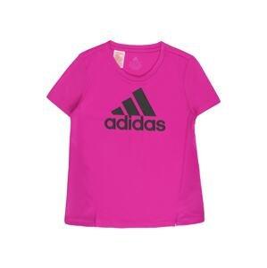 ADIDAS PERFORMANCE Funkční tričko  fialový melír / černá