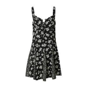 Tally Weijl Letní šaty 'SDRVISWAN'  černá / bílá