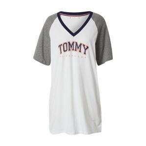 Tommy Hilfiger Underwear Noční košilka  šedá / bílá / noční modrá / světle červená