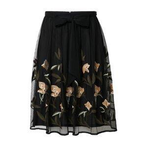 Esprit Collection Sukně  černá / světle béžová / bílá / olivová