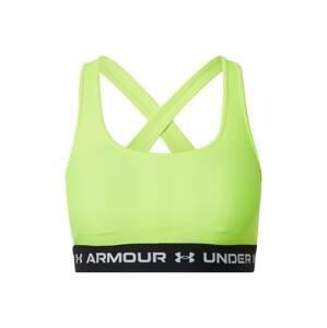 UNDER ARMOUR Sportovní podprsenka  žlutá / černá / bílá