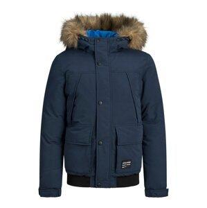Jack & Jones Junior Zimní bunda 'Super'  námořnická modř / černá