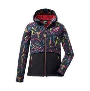 KILLTEC Outdoorová bunda  černá / limone / pink / námořnická modř / světlemodrá