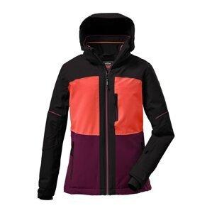 KILLTEC Outdoorová bunda  černá / tmavě fialová / korálová
