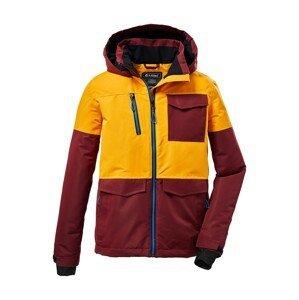 KILLTEC Outdoorová bunda  žlutá / tmavě červená