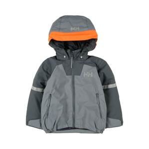 HELLY HANSEN Outdoorová bunda 'LEGEND'  šedá / tmavě šedá / tmavě oranžová