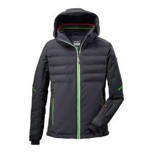 KILLTEC Outdoorová bunda  antracitová / tmavě šedá / svítivě zelená
