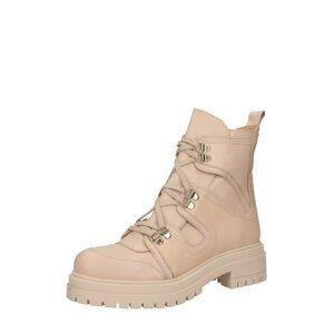 Ca'Shott Šněrovací boty 'Boots'  béžová