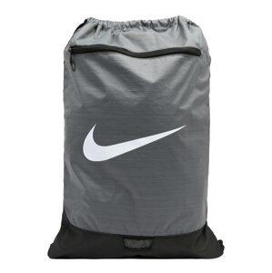 NIKE Sportovní batoh  šedá / bílá