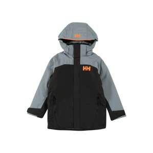 HELLY HANSEN Sportovní bunda 'Level'  černá / šedá / svítivě oranžová