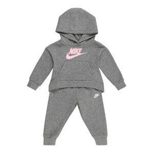 Nike Sportswear Joggingová souprava  šedý melír / růžová