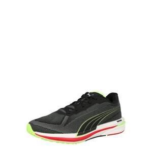 PUMA Běžecká obuv 'Velocity Nitro'  černá / limone / světle šedá