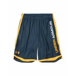 UNDER ARMOUR Sportovní kalhoty 'Stunt 3.0'  tmavě modrá / tmavě žlutá / bílá