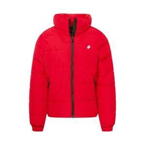 Superdry Zimní bunda  červená