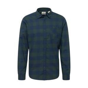 EDC BY ESPRIT Košile  tmavě zelená / námořnická modř