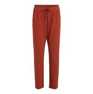 VILA Kalhoty  rezavě červená