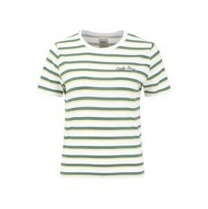 ONLY Tričko  bílá / zelená / žlutá
