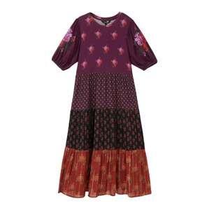Desigual Šaty 'DOVER'  červená / švestková / černá / pink