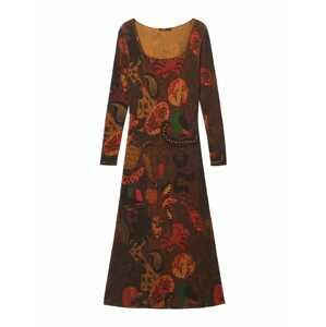 Desigual Šaty 'ARKAN'  kaštanově hnědá / karmínově červené / tmavě oranžová / tmavě zelená