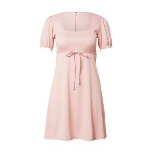 Cotton On Letní šaty 'JONES'  světle růžová / bílá