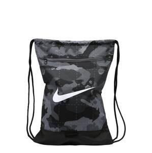 NIKE Sportovní taška 'Brasilia'  šedá / tmavě šedá / bílá