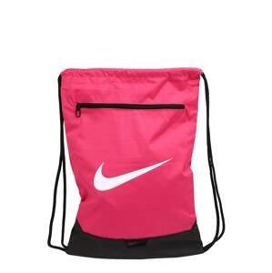 NIKE Sportovní batoh  pink / černá / bílá