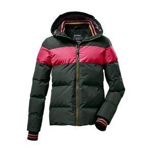 KILLTEC Funkční bunda  tmavě zelená / pink / zlatá / černá