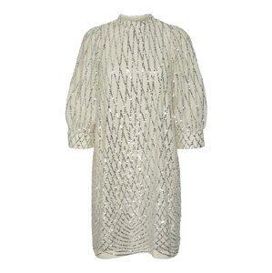 VERO MODA Koktejlové šaty  šedobéžová / stříbrná