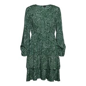 VERO MODA Společenské šaty 'Vilba'  tmavě zelená / šedá