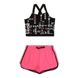 OVS Joggingová souprava  pink / černá / bílá