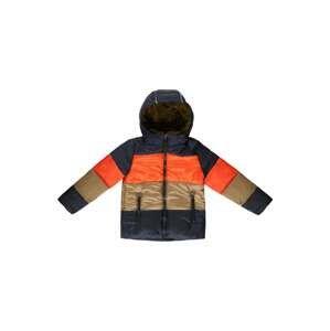 ESPRIT Přechodná bunda  námořnická modř / svítivě oranžová / světle béžová