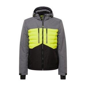 KILLTEC Sportovní bunda  tmavě šedá / svítivě zelená / černá