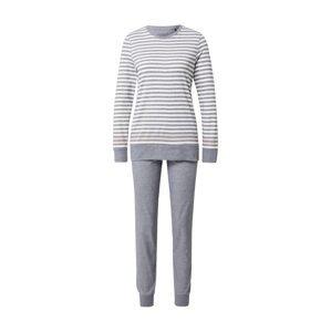 SCHIESSER Pyžamo  růžová / šedá / bílá