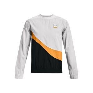UNDER ARMOUR Funkční tričko  světle šedá / černá / oranžová